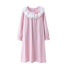 Girls Kids Pyjamas Long sleeve Nightwear Cotton Night Dress /Ladies Nightwear US