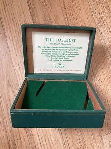 RARE Vintage Rolex Datejust 60s 70s green bevel triangle Pyramid top box
