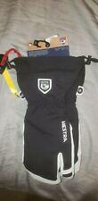 NEW Hestra Army Leather Heli Ski 3 Finger Mitten Glove Black White Size 8 Medium