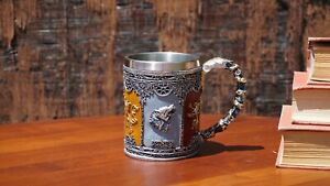 """Game of  Thrones 3D Mug (Stainless Steel Cup and Plastic cover): """"House Sigils"""""""