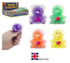 SQUISHY BEAR WITH GEL BEADS BALL Squeeze Stress Relief Kids Toy Gift PM543101 UK