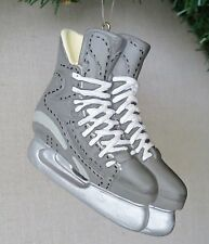 Hockey Skates - Solid Resin Christmas Ornament Silver Gray - New