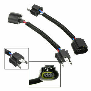 2PCS H4 9003 Male To H13 9008 Female Headlight Conversion Pigtail Harness Socket
