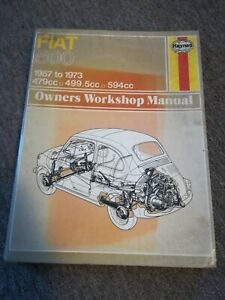 Fiat 500 1957-1973 Haynes Workshop Manual.