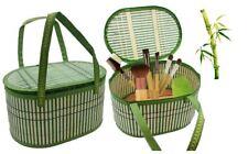 BAMBOO custodia cosmetici make-up Storage Bag eco-friendly Cesto di gioielli