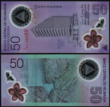 NICARAGUA 50 CORDOBAS (P207a) 2010 COMMEMORATIVE ISSUE POLYMER UNC