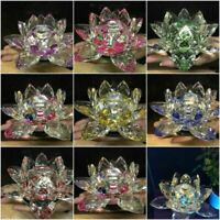 EXTRA BIG CRYSTAL Lotus Flower Ornament with Amazing crystal elements gift_UK