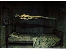Unframed Art Poster fantasy art levitating emaciated body with clown face (k81)