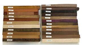 """23 Pack Set, Mixed Exotic Hobby Wood, Turning Blanks 1"""" X 12"""""""