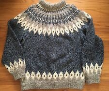 "Vintage Hand Knit Soft Wool Sweater ""The Highland Homespun Co."" SCOTLAND Large"