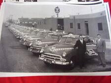 1951 1952  CHEVROLET TAXI CAB FLEET 12 X 18  LARGE PICTURE  PHOTO