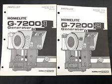 Oem Genuine Homelite G 7200 1 Amp G 7200 2 Generator Parts List Part No 17379 Lot