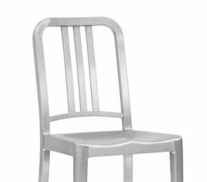 Genuine Emeco 1006 Navy Chair Brushed Aluminum  WE SHIP WORLDWIDE
