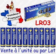 Piles LR3 LR03 AAA VARTA INDUSTRIAL MN2400 ( équivalent Alcaline HIGH ENERGY )