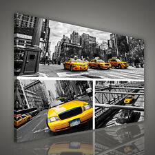 : LEINWANDBILD WANDBILD BILD FOTO POSTER GELB TAXI STADT NEW YORK  3FX1988O4