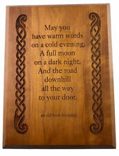 An Old Irish Blessing Carved Wood May You Have Warm Words 8x6 Celtic Irish Decor