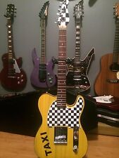 Custom build Tele Telecaster Style Electric Guitar Taxi Cab Theme!!