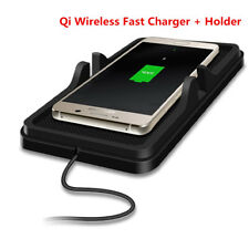 Qi Wireless Fast Charger Car Dashboard Anti Slip Pad Mount Cradle Holder Stand