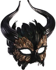 Adult's Mythical Creature Feathered Minotaur Mask Costume Accessory