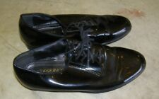 Preowned Frederico Leone Lace Up Mens Black Tuxedo shoes Size 8 wing tip