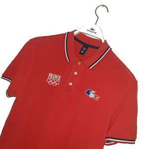 Men's LACOSTE Premium *RARE* FRENCH OLYMPIC THEMED Polo Shirt Size 5 (L) *VGC*