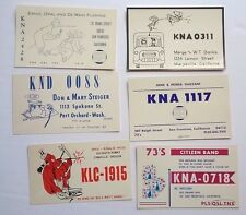 Vintage shortwave ham radio QSL cards postcards 1960's Oregon Cali Washington