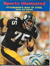 1st MEAN JOE GREENE Sports Illustrated 1971 PITTSBURGH STEELERS Football NoLABEL