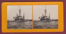 STEREO 130615 BALLET - TOULON - militaria bateau guerre cuirassé CHARLES MARTEL