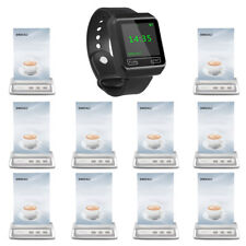 SINGCALL Wireless Calling System 1 Wrist Watch Receiver, 10 Buttons for Cafe
