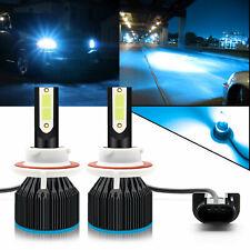 9008 H13 Blue COB LED Headlight Bulbs Conversion Kit Hi/Lo Beam w/ Fan Headlamp