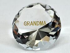 "Crystal 'Diamond' Grandma Paperweight Heavy-Weight Faceted Crystal ~ 60mm (2.5"")"