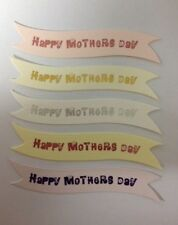 10 HAPPY MOTHERS DAY GREETING BANNER CARD MAKING CRAFT EMBELLISHMENTS (2)
