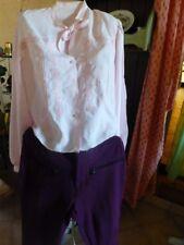femme t 40-42 lot  corsage  rose  et pantalon violine aubergine