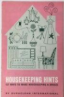 Vintage magazine book 1950 HOUSEKEEPING HINTS, by Duraclean International
