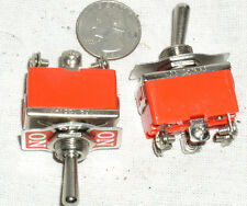 2 NEW DPDT ON-OFF-MOMENTARY TOGGLE SWITCH 15 A AMP 15A ON-OFF-SPRING ONE WAY USA