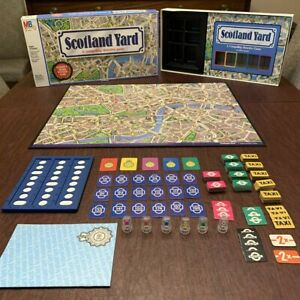 Vintage 1985 Scotland Yard Detective Board Game Milton Bradley 100% Complete