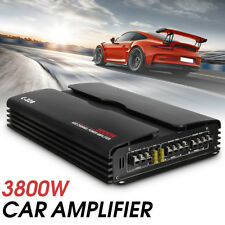 3800W 4/3/2 Channel High-Power Car Amplifier Stereo Audiio Bass Subwoofer Amp US