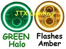 "JTX 7"" LED Headlights Lights GREEN  Nissan Patrol GQ Ford Maverick MQ G60"