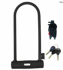 Serfas U-Lock With Bracket UL-290 Bicycle Lock Black EUC