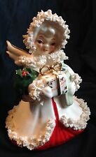 Vintage NAPCO Japan Christmas Spaghetti Angel December S116A Mid Century