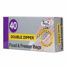 Food & Freezer Bags x 40 Double Seal 17x21cm Ultimate Strength Tidy z