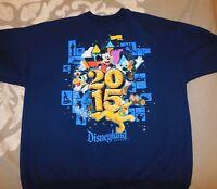 Disney Land Sweater Blue XL Mickey Mouse Goofy Donald Duck