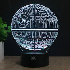 Death Star 3D Night Light Mood Lamp LED USB Decorative Table Lamp remote control