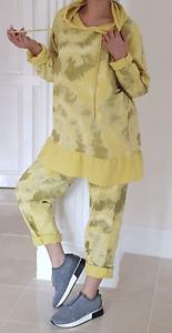 Yellow Frilled Lounge Wear 2 Pcs Hoodie Joggers Loungewear Comfy 12 14 16