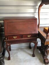 Mid 18c Style English Design Mahogany Drop Front Desk w/ Secret Compartments