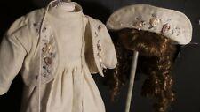 """Antique REPRODUCTION Style  16"""" DRESS Ensemble for Antique BISQUE & ARTIST DOLLS"""