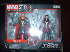 marvel legends thor & sif two pack new sealed
