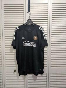 NWT Adidas Mens Atlanta United FC Short Sleeve MLS Jersey Black White XL