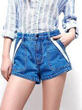 NWT Free People Size 26 Women's Blue Sweet Surrender Summer Mini Short