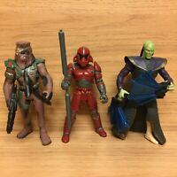 "Star Wars Shadows Of The Empire 4"" Figures - Prince Xizor Luke Chewbacca"